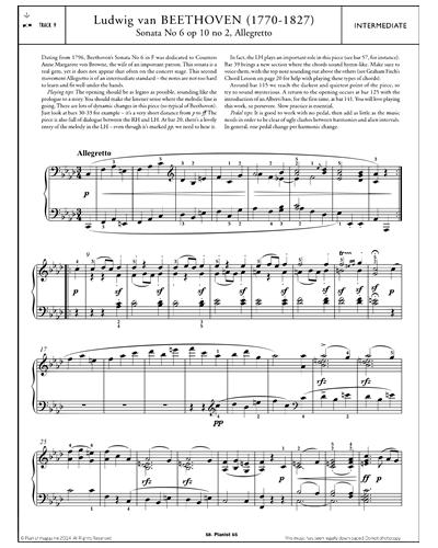 Allegretto from Sonata No.6 Op.10 No.2