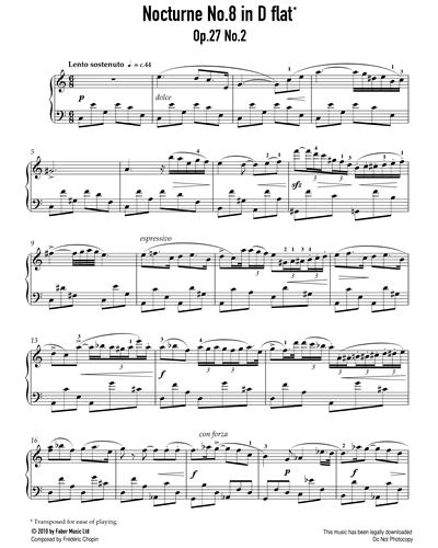 Nocturne No.8 in D Flat