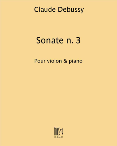 Sonate n. 3 - Pour violon & piano