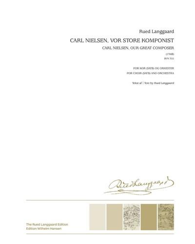 Carl Nielsen, vor store komponist