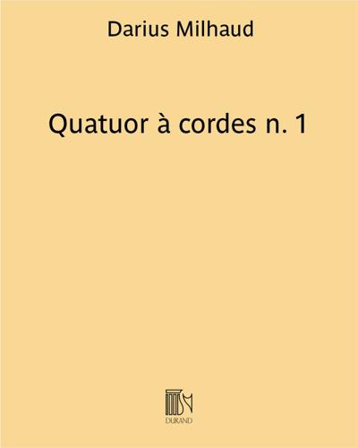 Quatuor à cordes n. 1