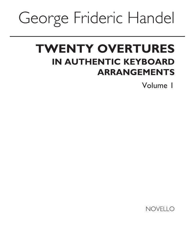 20 Overtures, Vol. 1