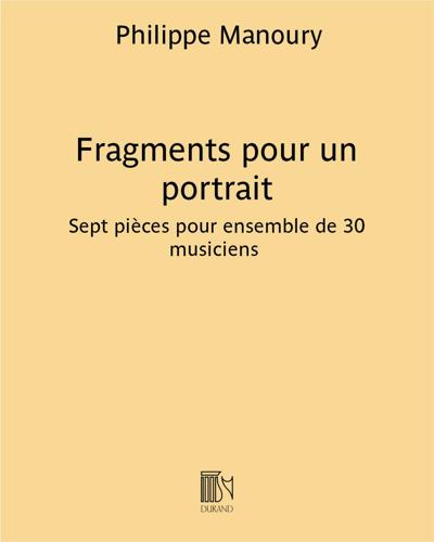 Fragments pour un portrait