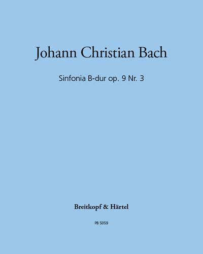 Sinfonia B-dur op. 9 Nr. 3