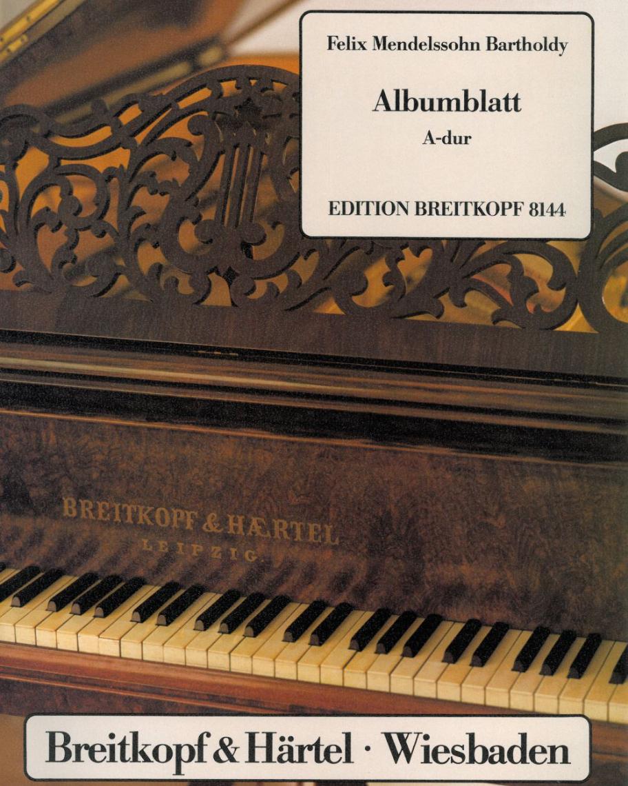 Albumblatt A-dur MWV U 75