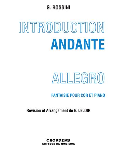 Introduction, Andante Et Allegro Fantaisie pour cor et piano