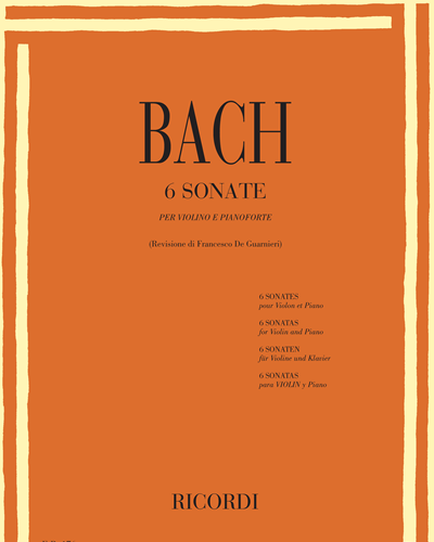6 Sonate per violino e pianoforte
