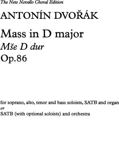 Mass in D, Op. 86