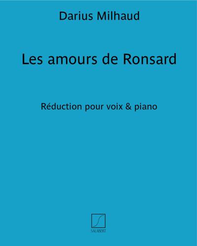 Les amours de Ronsard