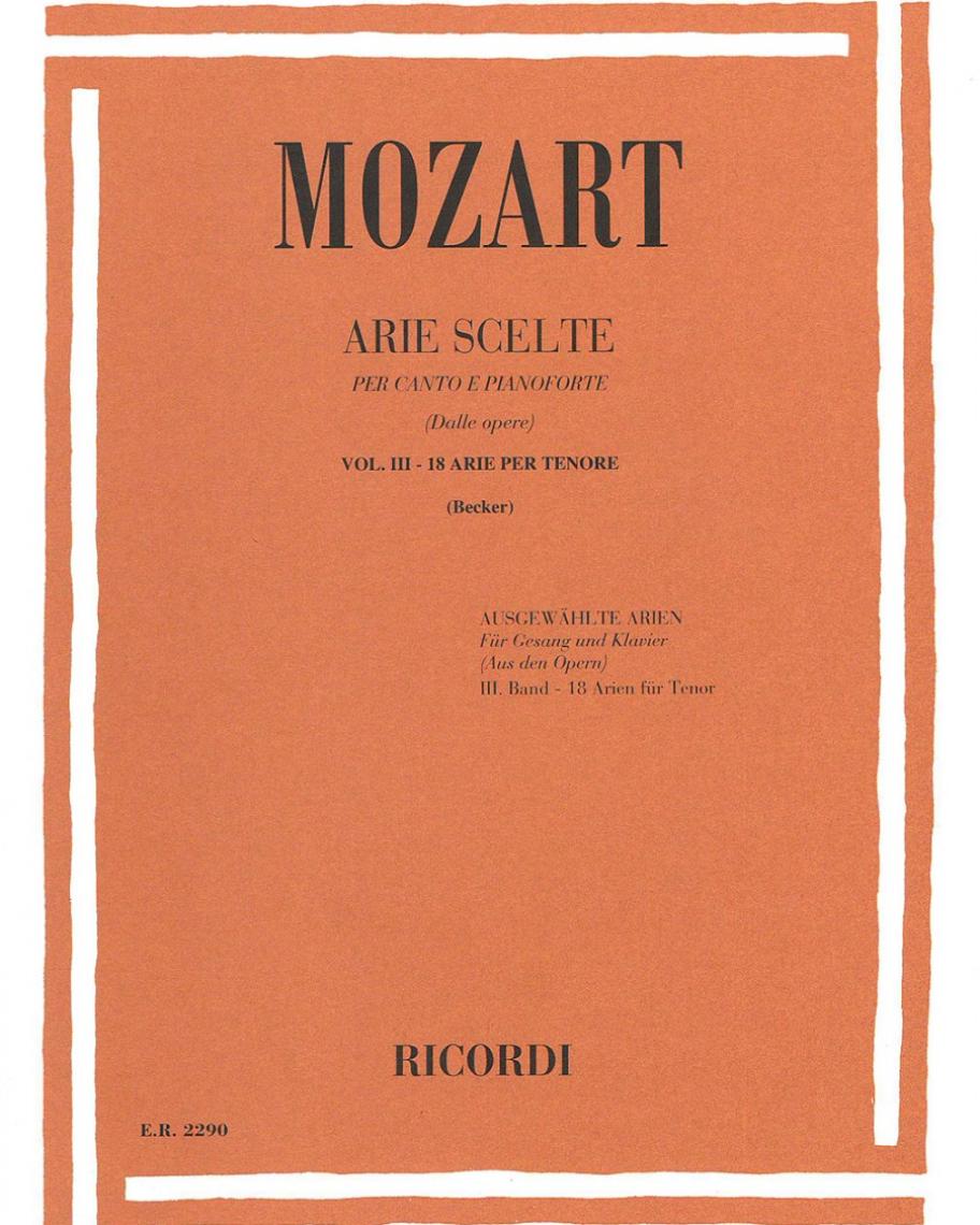 Arie scelte (dalle opere) Vol. 3 - 18 arie per tenore