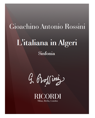 L'italiana in Algeri [Critical Edition] - Sinfonia