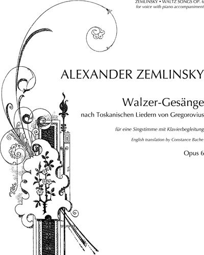 Waltz Songs, op. 6