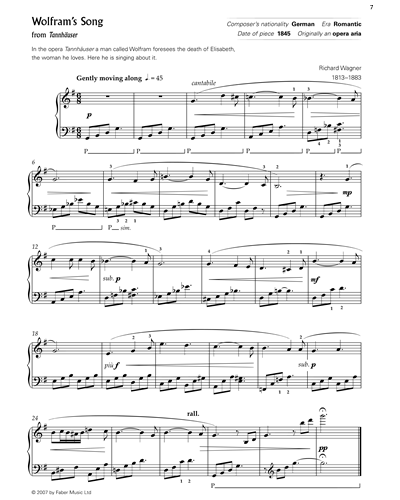 Wolfram's Song (from 'Tannhauser')