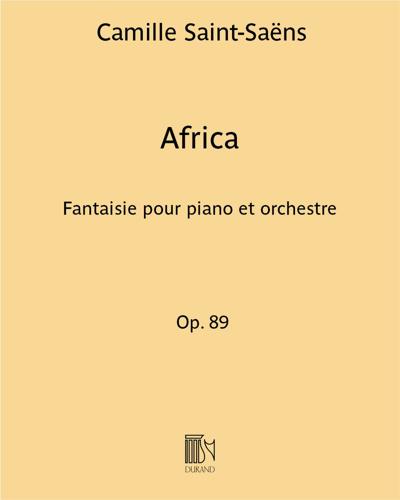 Africa Op. 89 - Fantaisie pour piano et orchestre