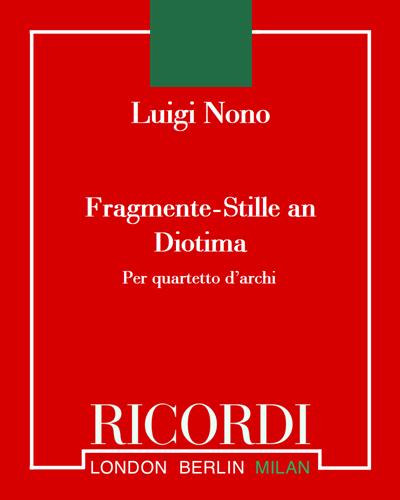 Fragmente-Stille, an Diotima