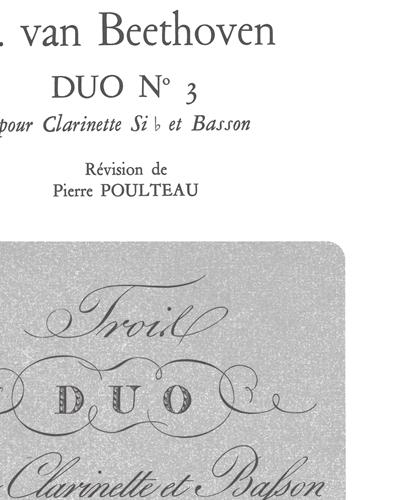 Duo No.3 pour Clarinette Sib et Basson