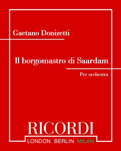 Il borgomastro di Saardam - Sinfonia