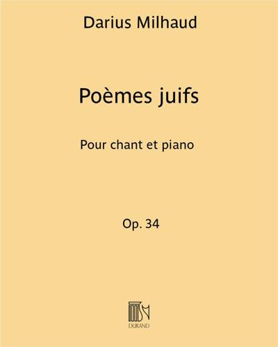 Poèmes juifs Op. 34