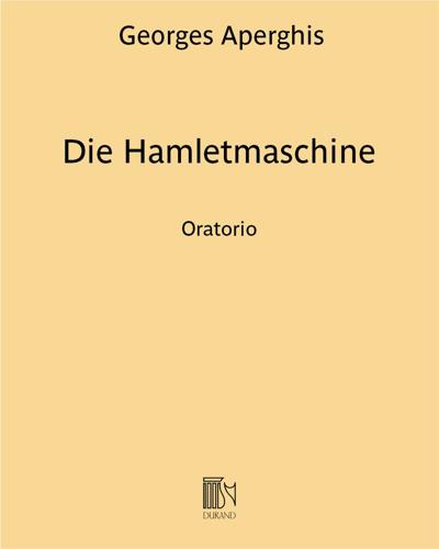 Die Hamletmaschine - Oratorio