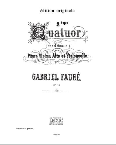 2ème Quatuor en Sol mineur, Op. 45