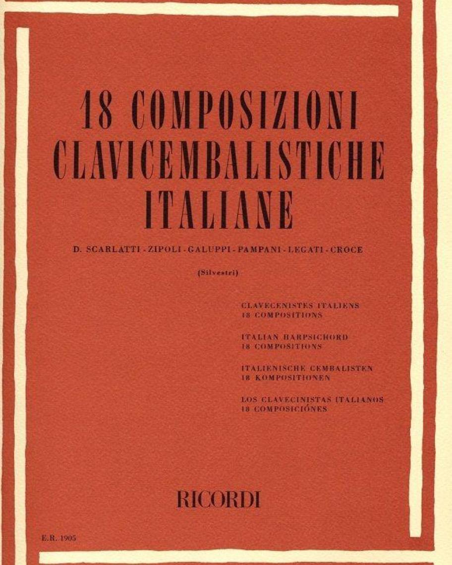 18 Composizioni clavicembalistiche italiane