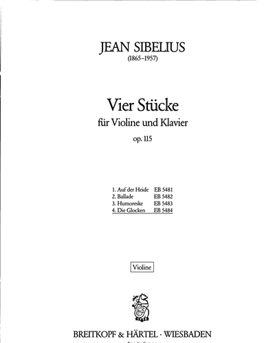 4 Stücke op. 115 - 4. Die Glocken (Capriccietto) op. 115/4