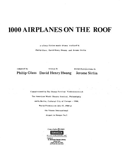 1000 Airplanes on the Roof