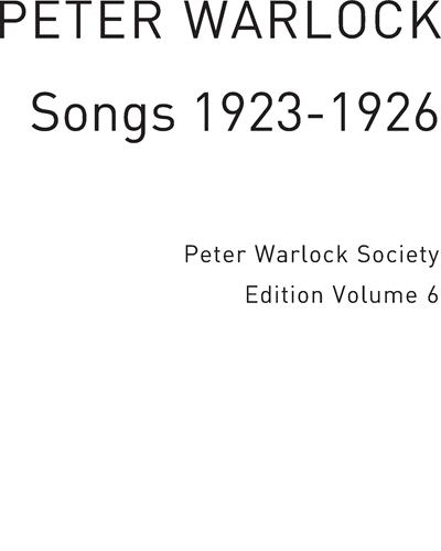Songs 1923-1926 Vol. 6