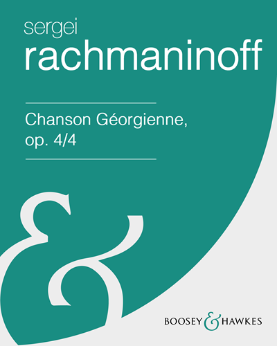 Chanson Géorgienne, op. 4/4 (in F# minor)