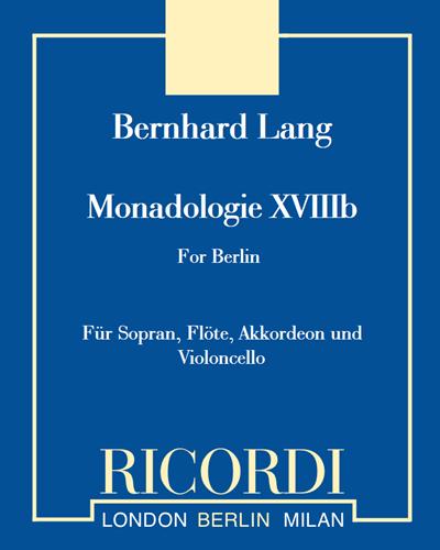 "Monadologie XVIIIb ""for Berlin"""