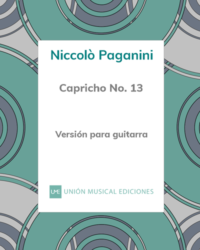 Capricho n° 13 - Versión para guitarra