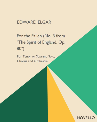"""For the Fallen (No. 3 from """"The Spirit of England, Op. 80"""")"""