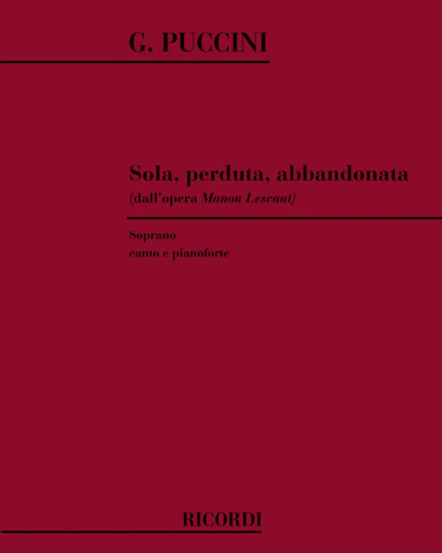 """Sola, perduta, abbandonata (dall'opera """"Manon Lescaut"""")"""