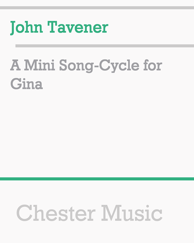 A Mini Song-Cycle for Gina