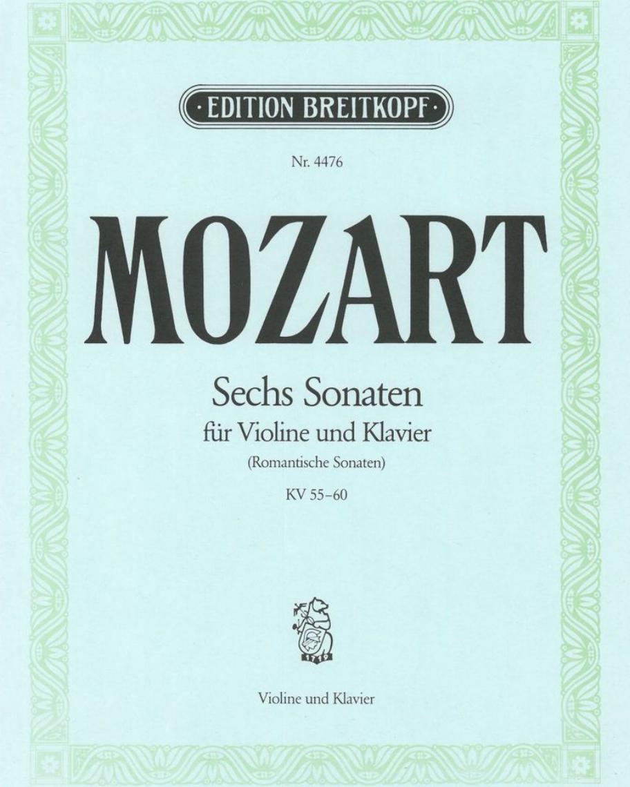 6 romantische Sonaten KV 55-60