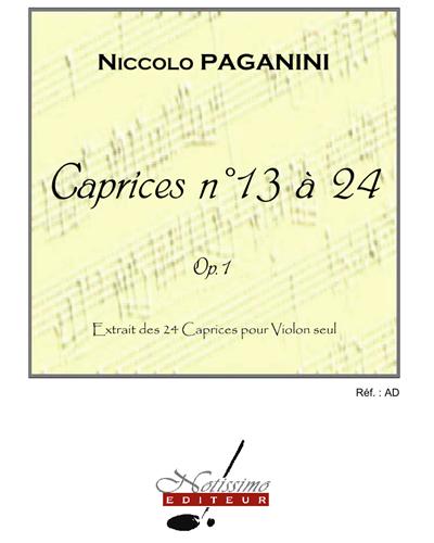 Caprices n. 13 à 24, Op. 1