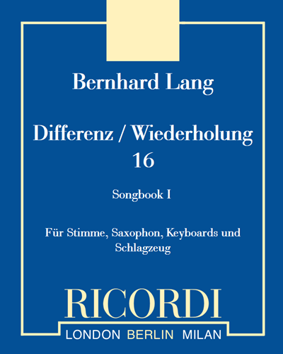 Differenz / Wiederholung 16 - Songbook I