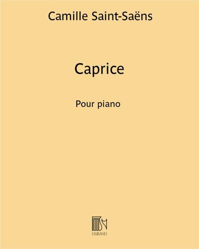 Caprice (sur les airs de ballet d'Alceste)