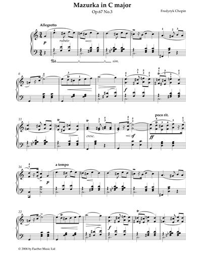 Mazurka in C Major Op.67 No.3