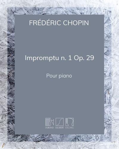 Impromptu n. 1 Op. 29