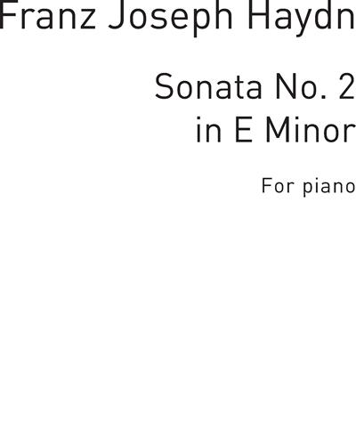 Sonata No. 2 in E Minor