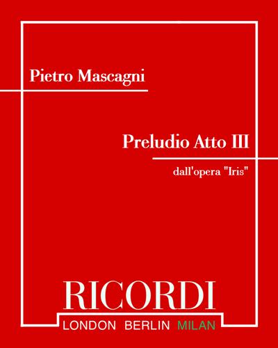 """Preludio Atto III (dall'opera """"Iris"""")"""