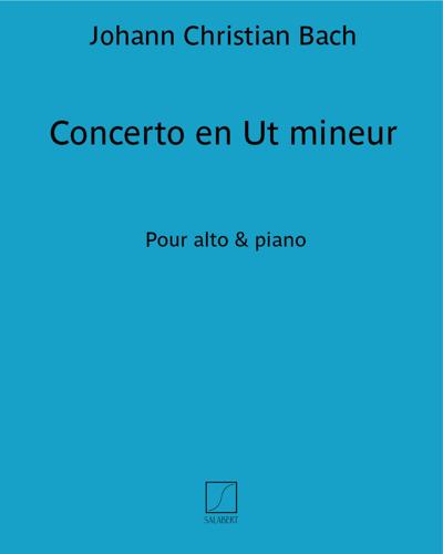 Concerto en Ut mineur - Pour alto & piano