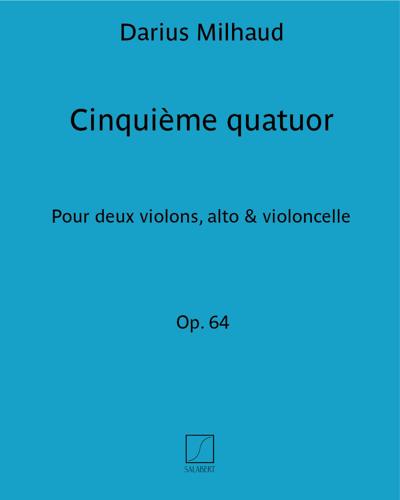 Cinquième quatuor Op. 64