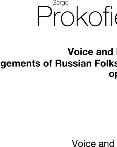 12 Russian Folksongs, op. 104