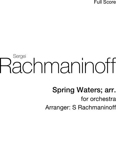Spring Waters; arr.