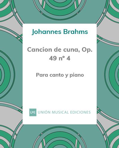 Cancion de cuna, Op. 49 nº 4