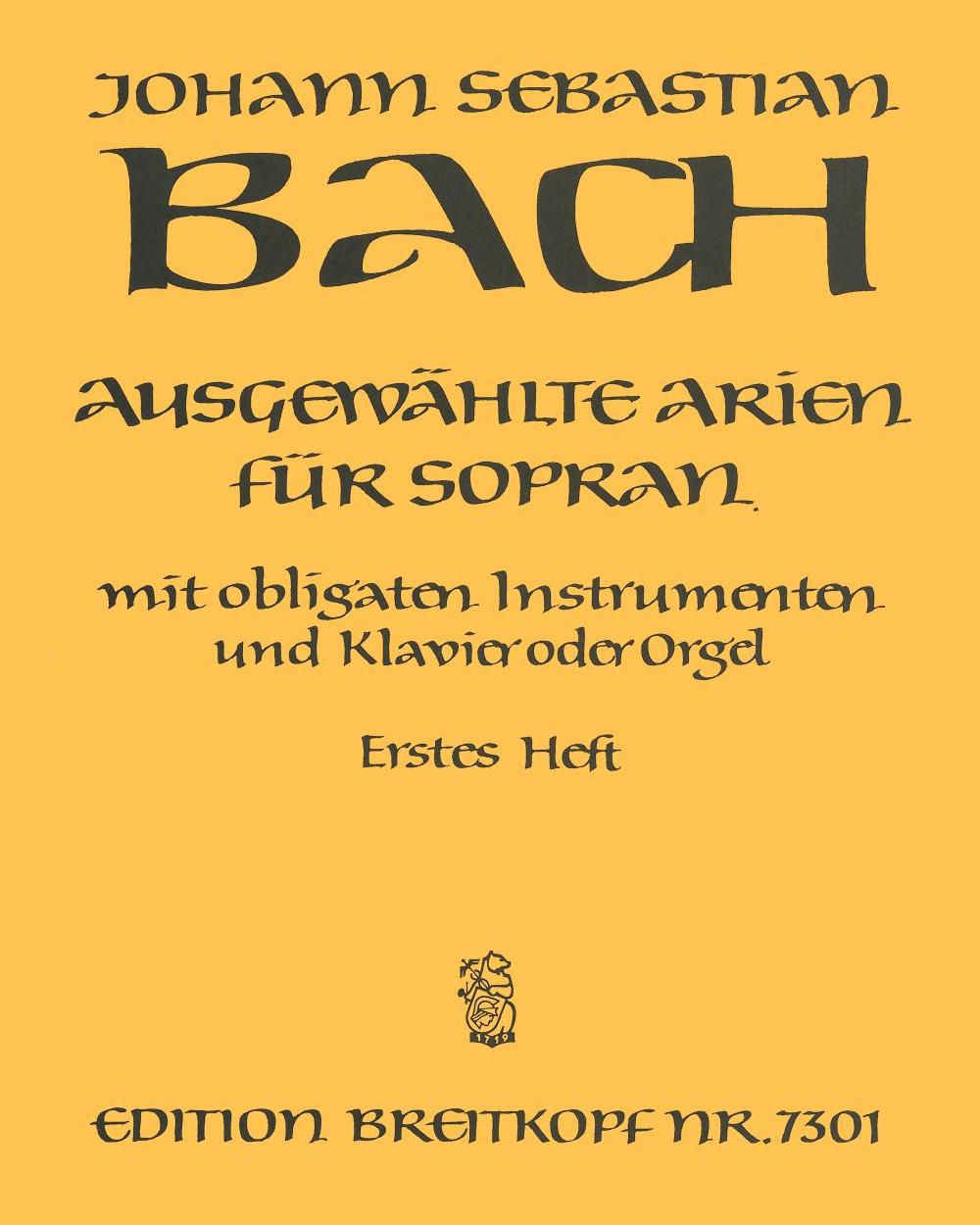 Ausgewählte Arien für Sopran - Heft 1