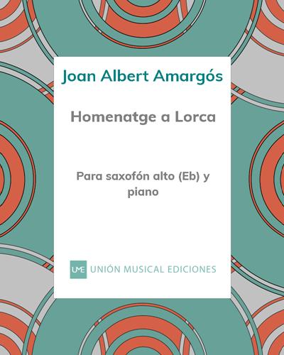 Homenatge a Lorca