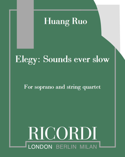 Elegy: Sounds ever slow